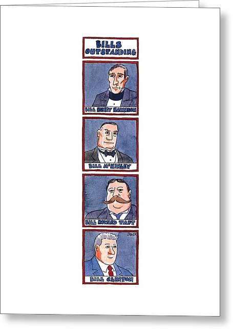 Bills Outstanding Greeting Card