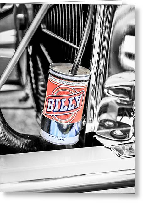 Billy Beer Hot Rod Greeting Card