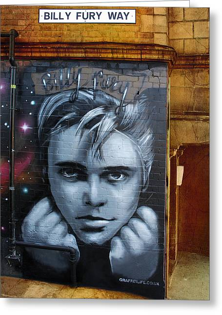 Billy Fury Way Greeting Card by Stephen Norris