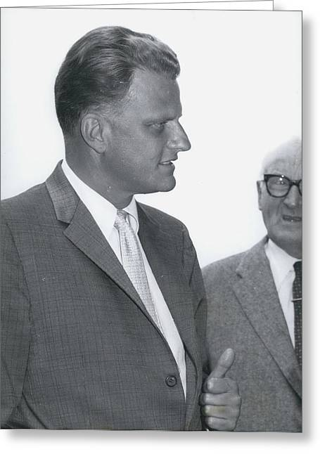 Billy Graham, �the Greatest Evangelist Of Our Times� Greeting Card by Retro Images Archive