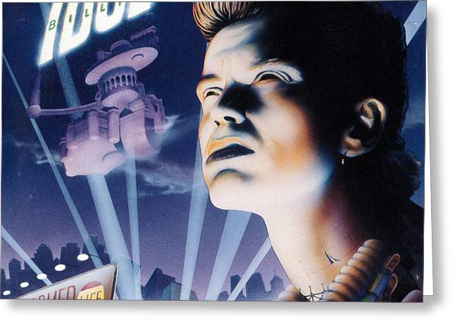 Billy Idol - Charmed Life 1990 Greeting Card by Epic Rights