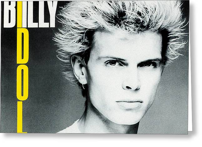 Billy Idol - Don't Stop 1981 Greeting Card by Epic Rights