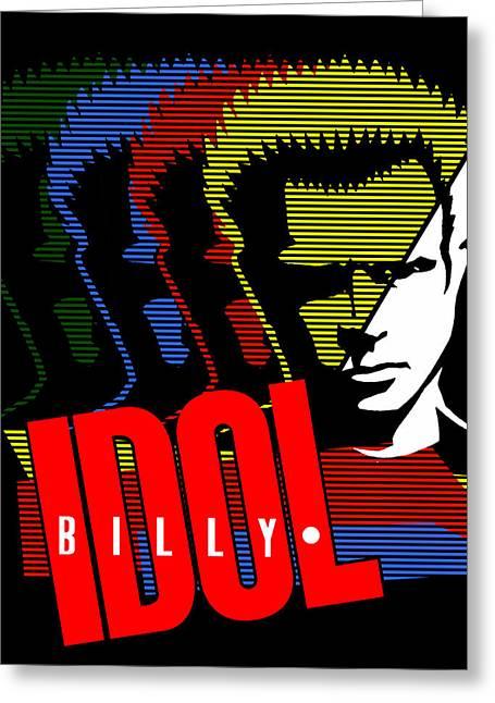Billy Idol - Idol Greeting Card by Epic Rights