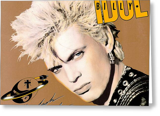 Billy Idol - Whiplash Smile 1986 Greeting Card by Epic Rights