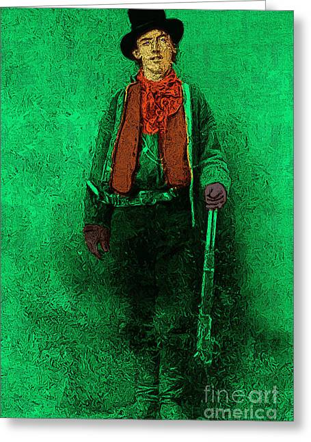 Billy The Kid 20130211v1 Greeting Card by Wingsdomain Art and Photography