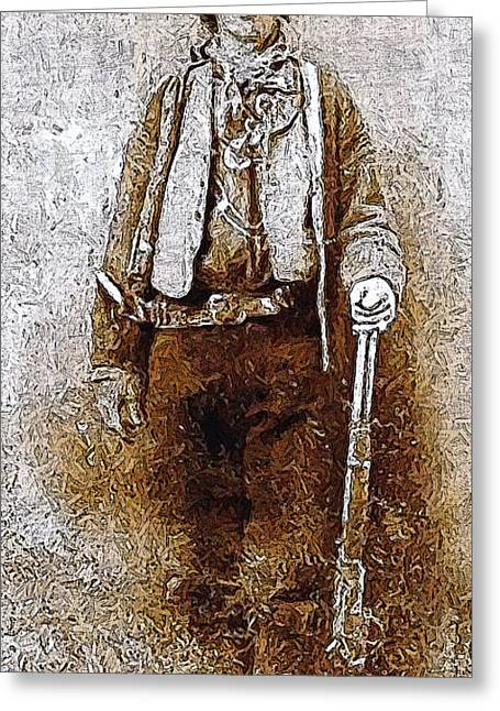 Billy The Kid 20130211v3 Long Greeting Card by Wingsdomain Art and Photography