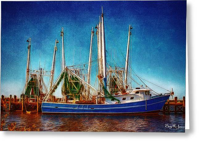 Biloxi Boat Docks Greeting Card