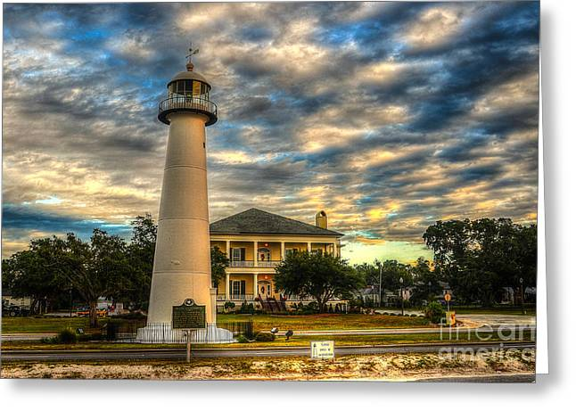 Biloxi Lighthouse And Welcome Center Greeting Card by Maddalena McDonald