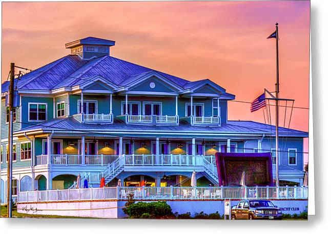 Architecture - Biloxi Yacth Club Greeting Card by Barry Jones