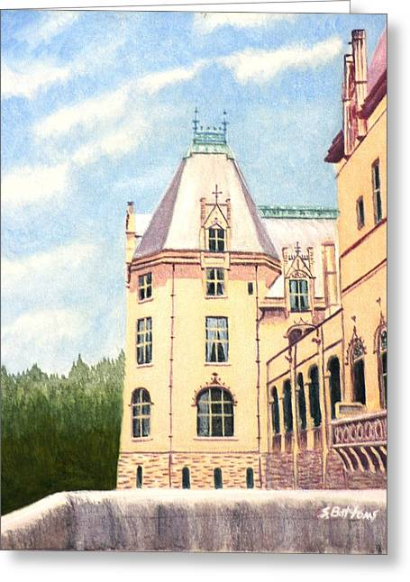 Biltmore Balcony Greeting Card by Stacy C Bottoms