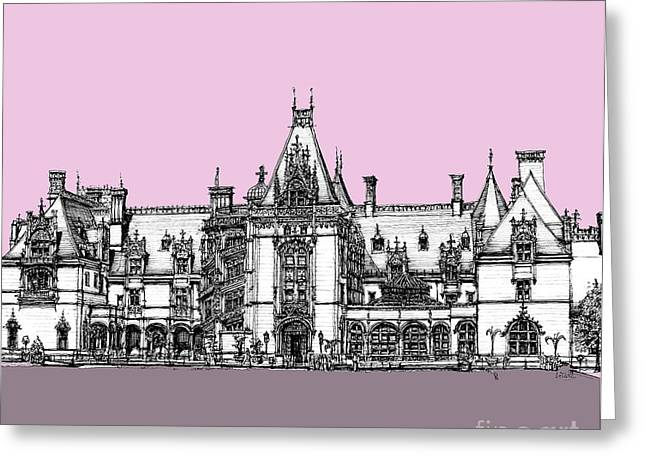 Biltmore Estate Pink And Lilac Greeting Card by Adendorff Design