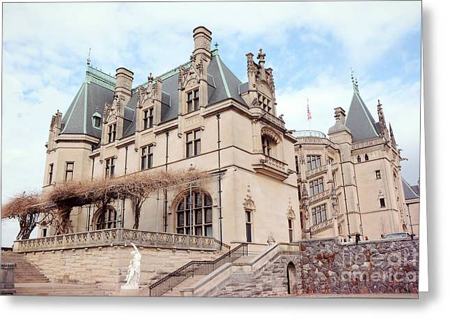 Biltmore Estates Mansion - American Castles - Asheville North Carolina Biltmore Mansion Greeting Card by Kathy Fornal