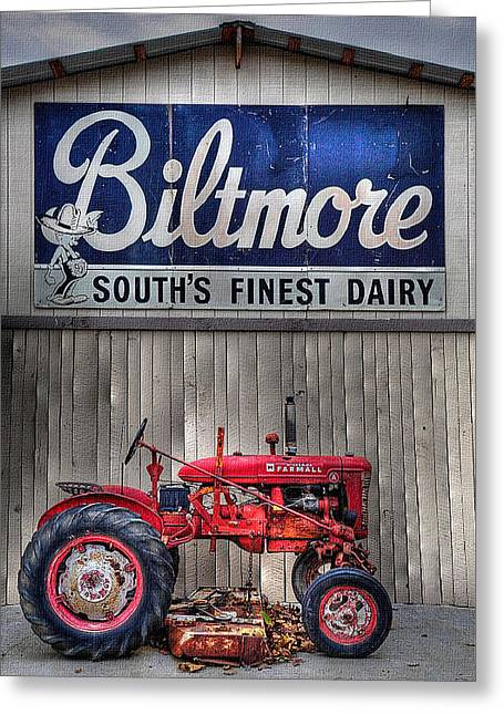 Greeting Card featuring the photograph Biltmore Farmall by Craig T Burgwardt