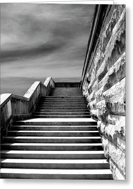 Biltmore Stairs Asheville Nc Greeting Card by William Dey