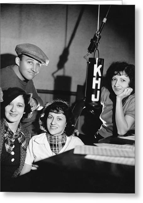 Bing Crosby & Boswell Sisters Greeting Card by Underwood Archives