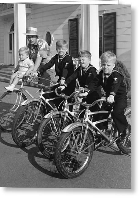 Bing Crosby And His Boys Greeting Card by Underwood Archives