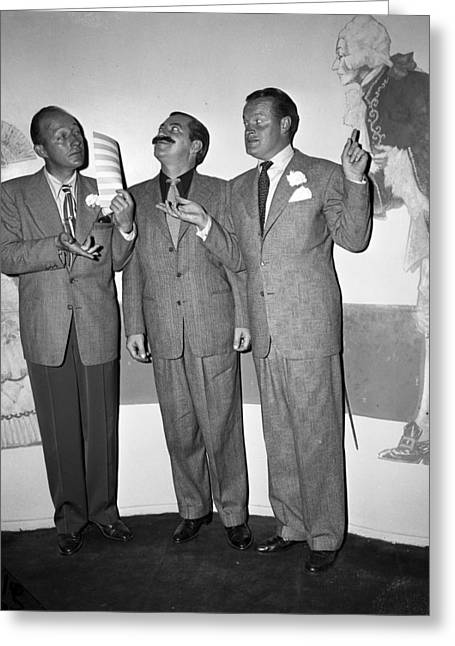 Bing Crosby Jerry Colonna And Bob Hope Greeting Card by Retro Images Archive