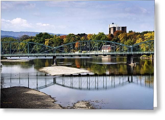 Binghamton Ny South Washington St. Bridge Greeting Card by Christina Rollo