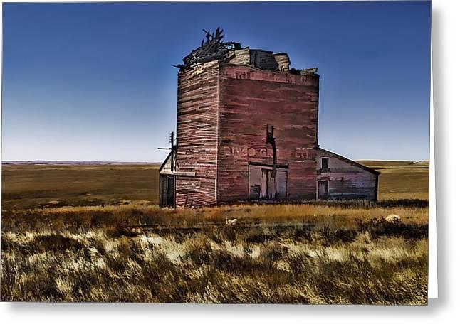 Greeting Card featuring the painting Bingo Grain Co by Muhie Kanawati