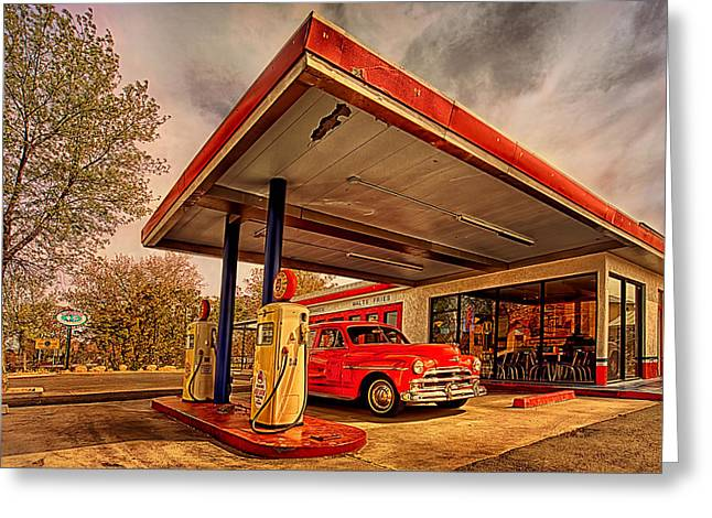 Bings Burger Station In Historic Old Town Cottonwood Arizona Greeting Card by Priscilla Burgers