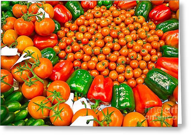 Bio Vegetables Greeting Card by Dragomir Nikolov