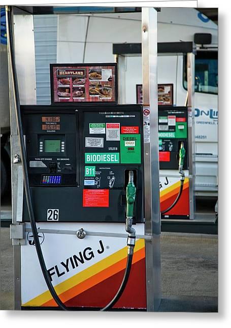Biodiesel Fuel Pump Greeting Card
