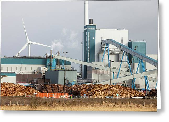 Biofuel Power Plant Greeting Card