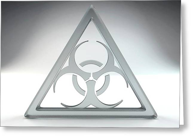 Biohazard Sign Greeting Card