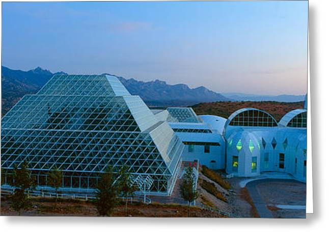 Biosphere 2 At Sunset, Arizona Greeting Card by Panoramic Images