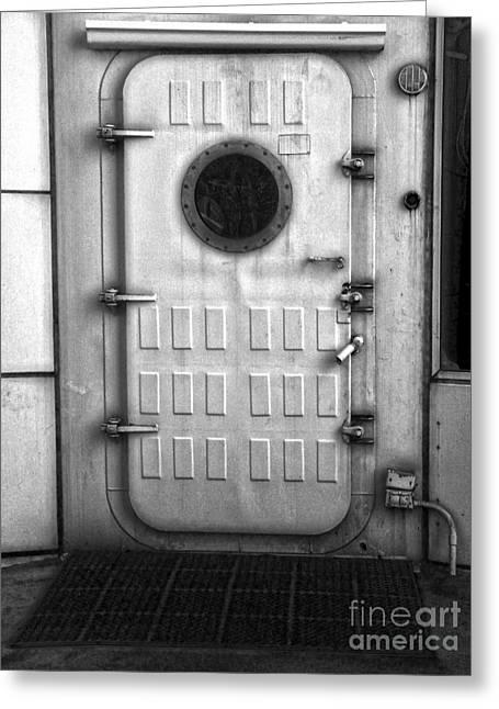 Biosphere2 - Door Greeting Card by Gregory Dyer