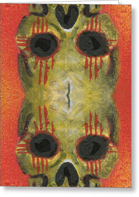 Bipolar New Mexican Greeting Card by KD Neeley