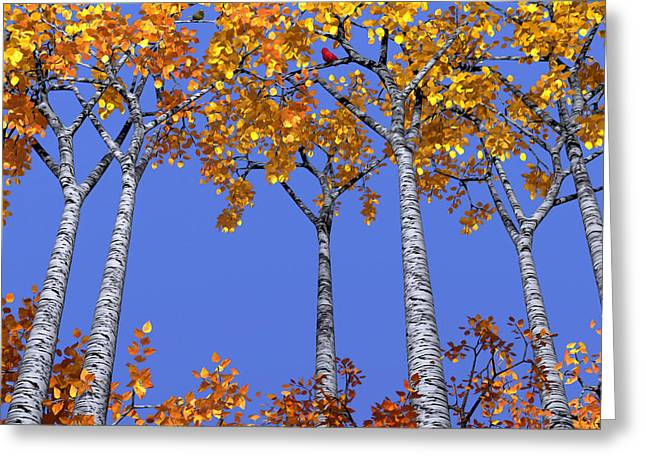 Birch Grove Greeting Card