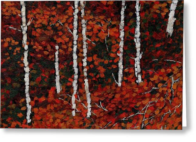 Birches Greeting Card by David Dossett