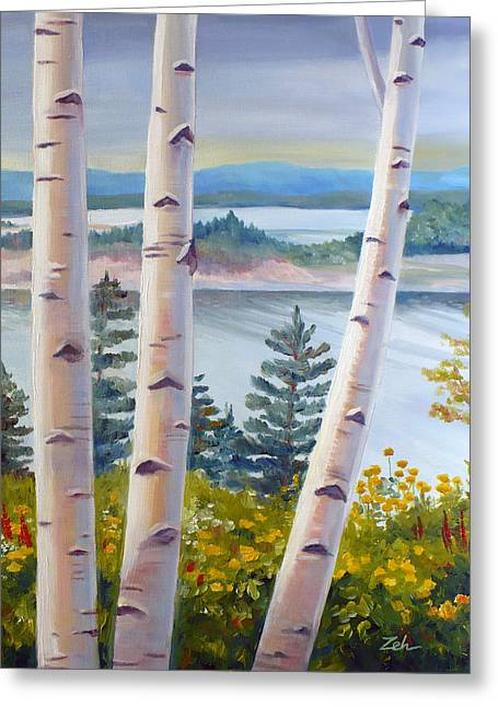 Birches In Nova Scotia Greeting Card by Janet  Zeh