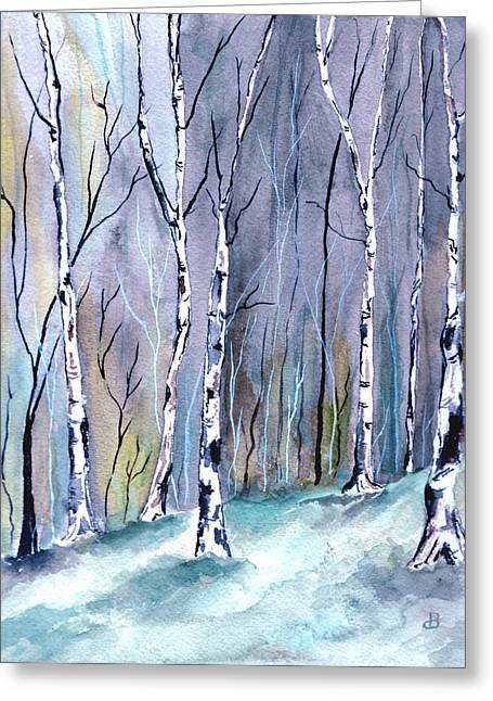 Birches In The Forest Greeting Card