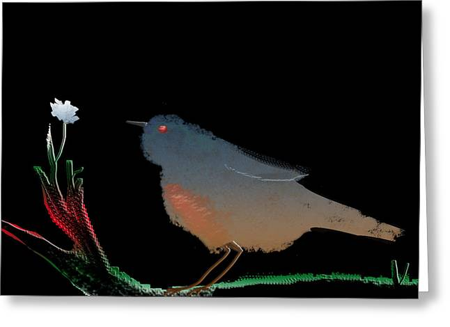 Bird And The Flower Greeting Card