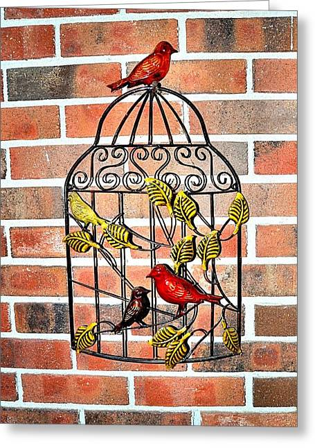 Bird Cage Decor Greeting Card