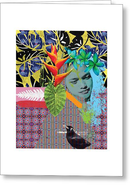 Bird Dreaming Of A Woman Greeting Card by Jonathan Benitez
