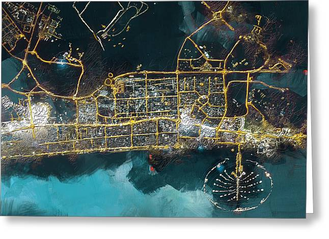 Bird Eye View - Dubai Greeting Card