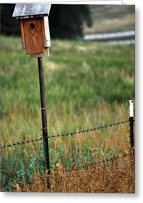 Greeting Card featuring the photograph Bird House 40 by Amee Cave