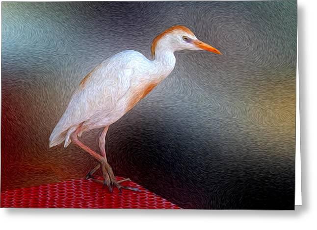 Bird In Faux Oil Greeting Card