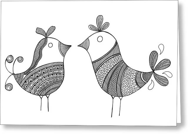 Bird Love Birds Greeting Card