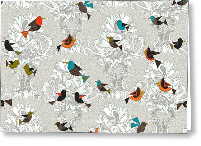 Bird Love Trees Greeting Card by Sharon Turner