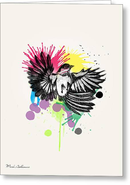 Bird Greeting Card by Mark Ashkenazi