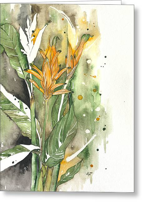 Yakubovich Greeting Cards - Bird Of Paradise 08 Elena Yakubovich  Greeting Card by Elena Yakubovich