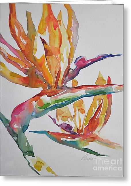 Greeting Card featuring the painting Bird Of Paradise #2 by Roger Parent