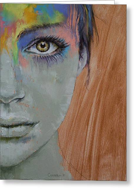 Bird Of Paradise Greeting Card by Michael Creese