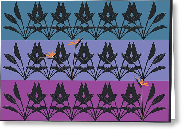 Bird Of Paradise Pattern Greeting Card