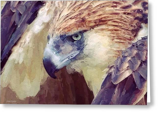 Bird Of Prey Portrait Greeting Card by Scott Wallace