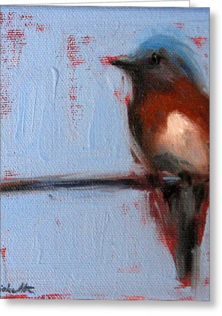 Bird On A Wire II Greeting Card
